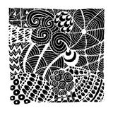Zentangle ornament, sketch for your design Royalty Free Stock Images