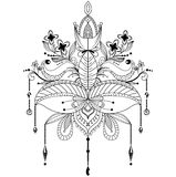 Zentangle ornamental lotus flower Royalty Free Stock Photography