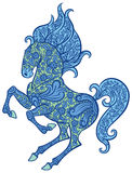 Zentangle ornate horse Royalty Free Stock Photos