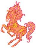 Zentangle ornate horse Stock Photography