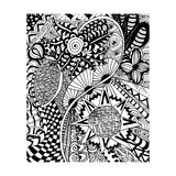 Zentangle pattern, doodle, Florent style hand draw Stock Photo