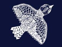 Zentangle ptak royalty ilustracja