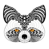 Zentangle raccoon for coloring page for adult,tattoo, logo, shirt design and other decorations Royalty Free Stock Images