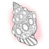 Zentangle Seashell vector Illustration. Zentangle stylized sea cockleshell. Hand Drawn aquatic doodle vector illustration. Seashell collection Stock Photo