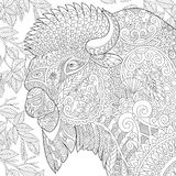 Zentangle stiliserade bisonen Royaltyfria Foton