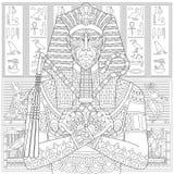 Zentangle stiliserade farao Fotografering för Bildbyråer