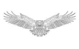 Zentangle stilisierte Adler Skizze für Färbungsseite Lizenzfreie Stockfotos
