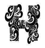 Zentangle stilisierte Alphabet Buchstabe H in der Gekritzelart Lizenzfreie Stockbilder