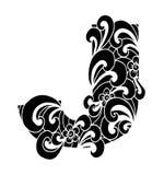 Zentangle stilisierte Alphabet Buchstabe J in der Gekritzelart Lizenzfreie Stockbilder