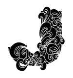 Zentangle stilisierte Alphabet Buchstabe J in der Gekritzelart Stockbilder