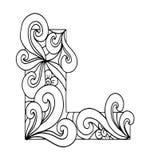 Zentangle stilisierte Alphabet Buchstabe L in der Gekritzelart Lizenzfreies Stockfoto