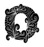 Zentangle stilisierte Alphabet Buchstabe O in der Gekritzelart Stockfoto