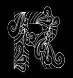 Zentangle stilisierte Alphabet Buchstabe R in der Gekritzelart Stockbild