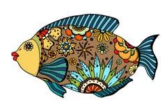 Zentangle stilisierte Fische lizenzfreie abbildung