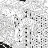 Zentangle stilisierte Hund Hand gezeichnete Spitzevektorillustration Stockfotografie