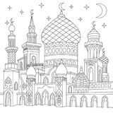 Zentangle stilisierte islamische Moschee lizenzfreie abbildung