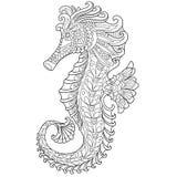 Zentangle stilisierte Seahorse stock abbildung