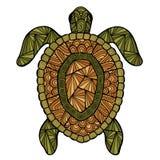 Zentangle stilizzato di stile della tartaruga Fotografia Stock