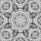 Zentangle Style Black And White Ornament Royalty Free Stock Photography