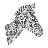 Zentangle style Zebra Head illustration Royalty Free Stock Images