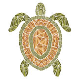 Zentangle stylisé de style de tortue Photo libre de droits