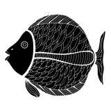 Zentangle a stylisé des poissons Image libre de droits