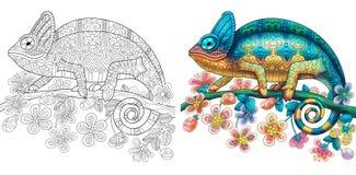 Zentangle a stylisé le lézard de caméléon