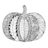 Zentangle a stylisé le potiron illustration de vecteur