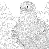 Zentangle stylized American eagle mascot Royalty Free Stock Photography