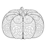 Zentangle stylized autumn Pumpkin for Thanksgiving day, Hallowee Stock Image