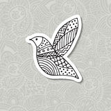 Zentangle stylized bird. Hand drawn vector illustration. Royalty Free Stock Images