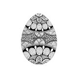 Zentangle stylized black Easter Egg. Hand Drawn Royalty Free Stock Image