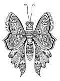 Zentangle stylized butterfly Royalty Free Stock Photos