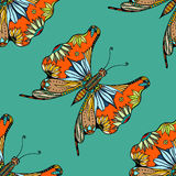 Zentangle stylized Butterfly Stock Photo
