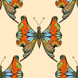 Zentangle stylized Butterfly Stock Photography