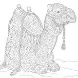 Zentangle stylized camel Royalty Free Stock Image