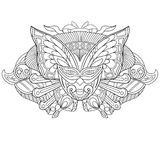 Zentangle stylized carnaval mask. Zentangle stylized cartoon carnaval mask, on white background. Hand drawn sketch for adult antistress coloring page stock illustration