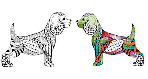 Zentangle stylized cartoon Cocker Spaniel dog Royalty Free Stock Images