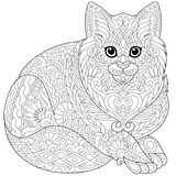Zentangle stylized cat Stock Photography