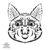 Zentangle stylized cat. Sketch for tattoo or t Royalty Free Stock Photo