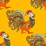 Zentangle Stylized Cock. Stock Photography