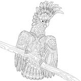 Zentangle stylized cockatoo parrot Royalty Free Stock Photo