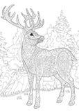 Zentangle stylized deer Royalty Free Stock Photo