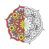Zentangle stylized elegant color arabic Mandala for coloring Stock Photos