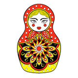 Zentangle stylized elegant Russian doll, Matryoshka doll Royalty Free Stock Photo