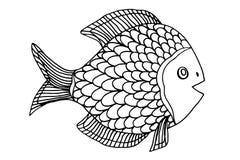 Zentangle stylized Fish Royalty Free Stock Photos