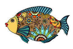 Zentangle stylized Fish Stock Image