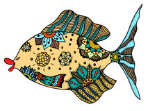 Zentangle stylized Fish Royalty Free Stock Photo