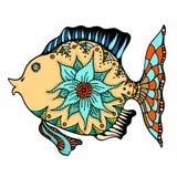 Zentangle stylized Fish Royalty Free Stock Photography