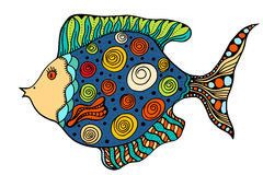 Zentangle stylized Fish Stock Photos